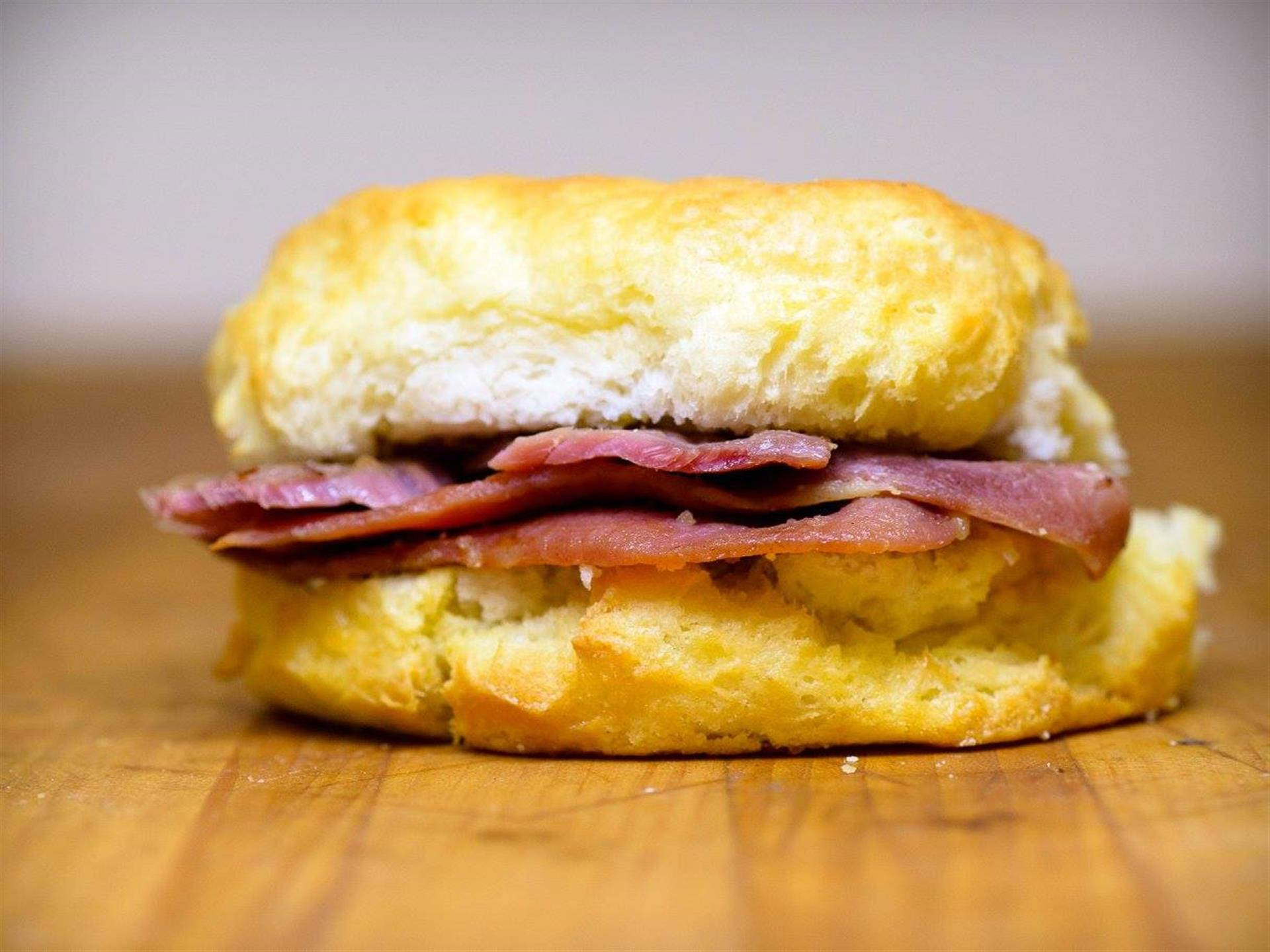 ham on a biscuit