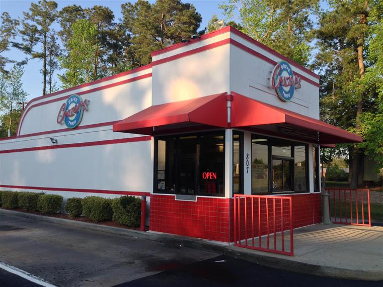 outside view of cruzer's drive thru