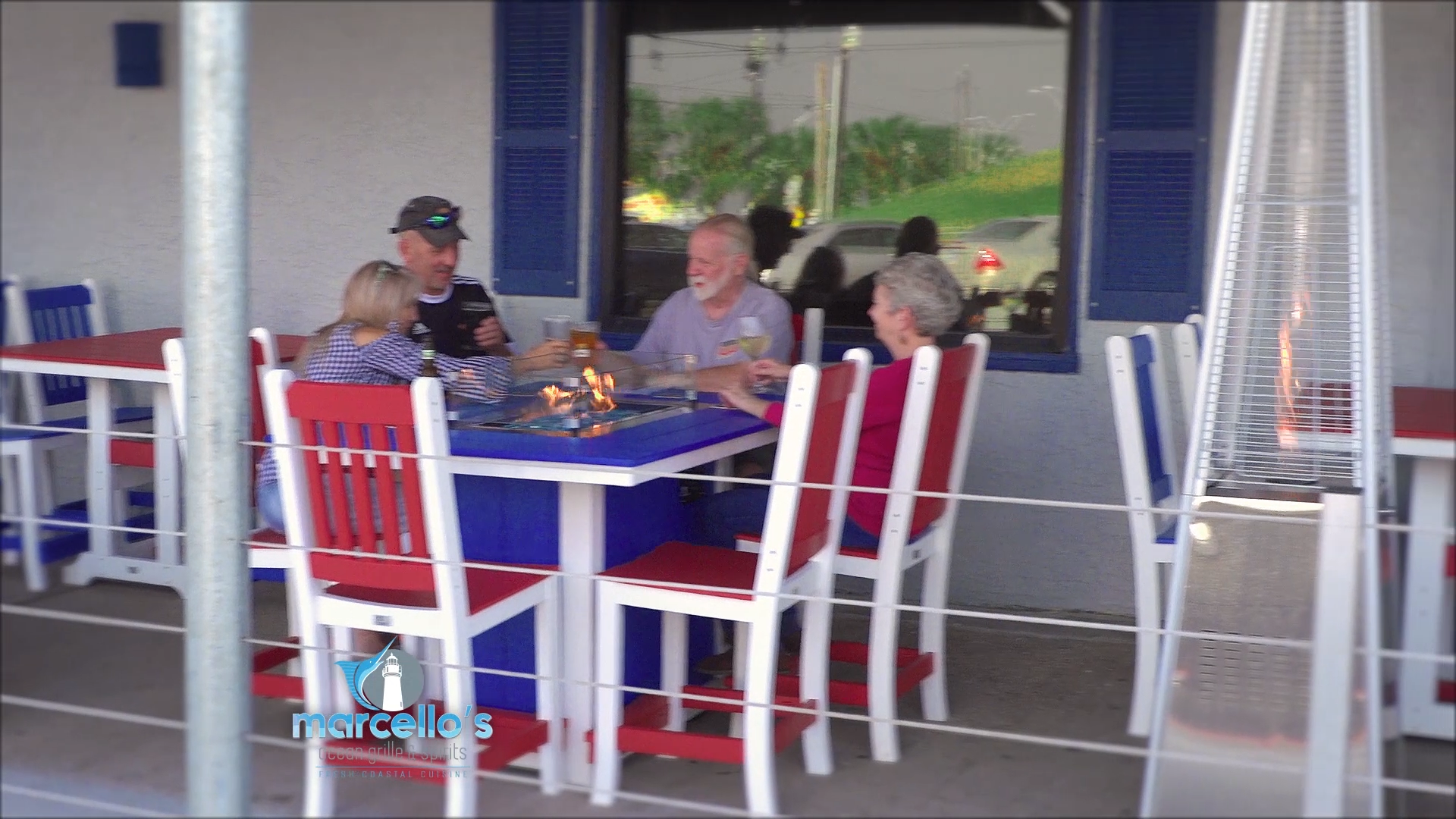 Customers on Patio