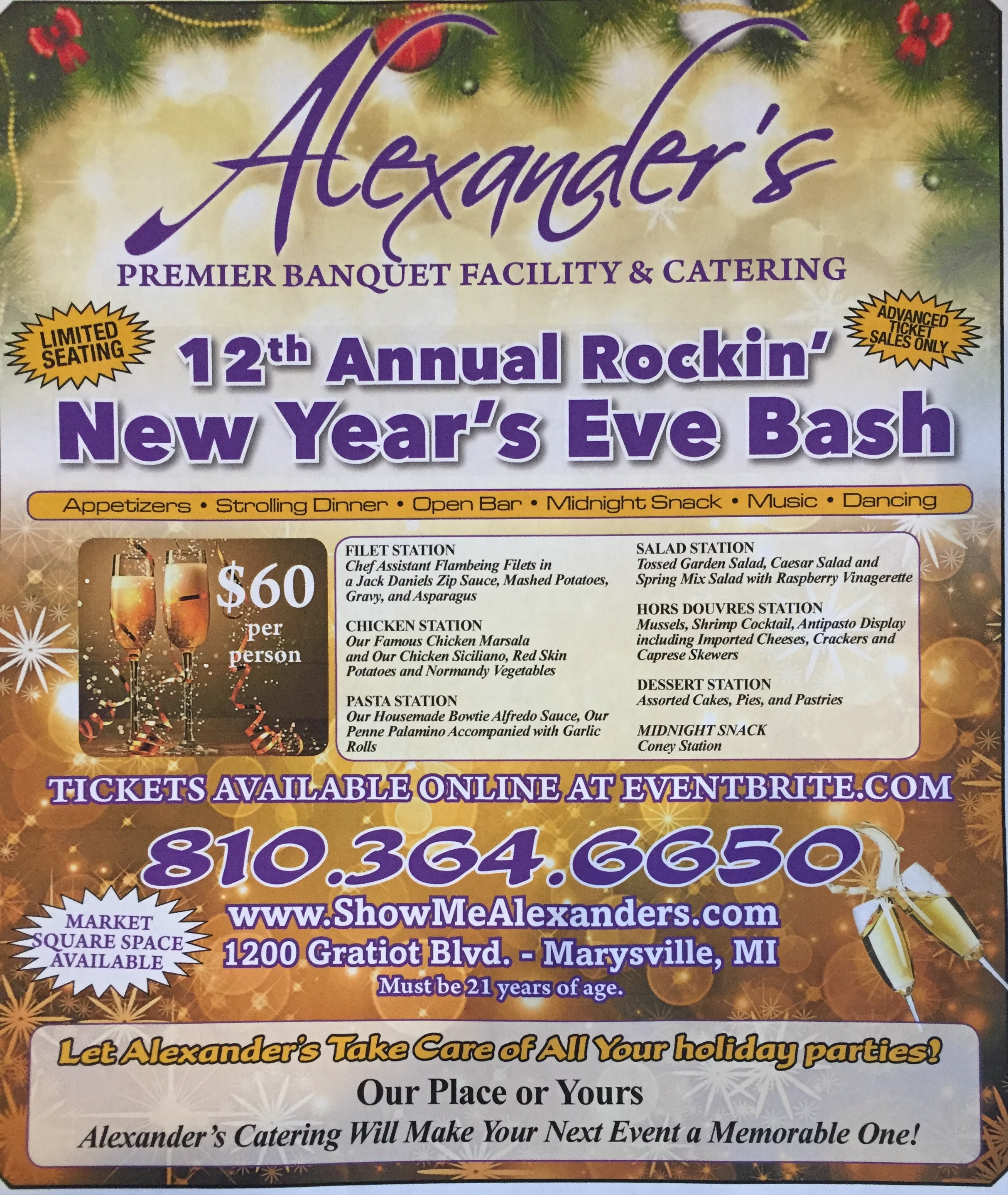 Dvanced Limited Seating New 12th Year's Annual Eve Rockin' Bash