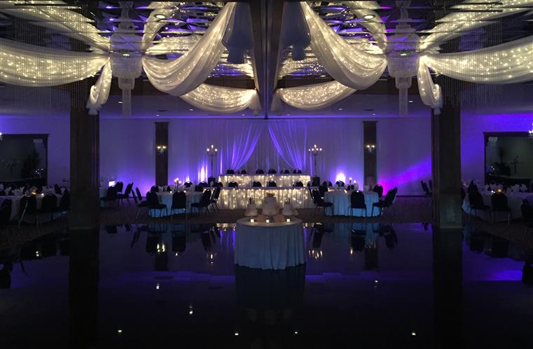 large elegant banquet room