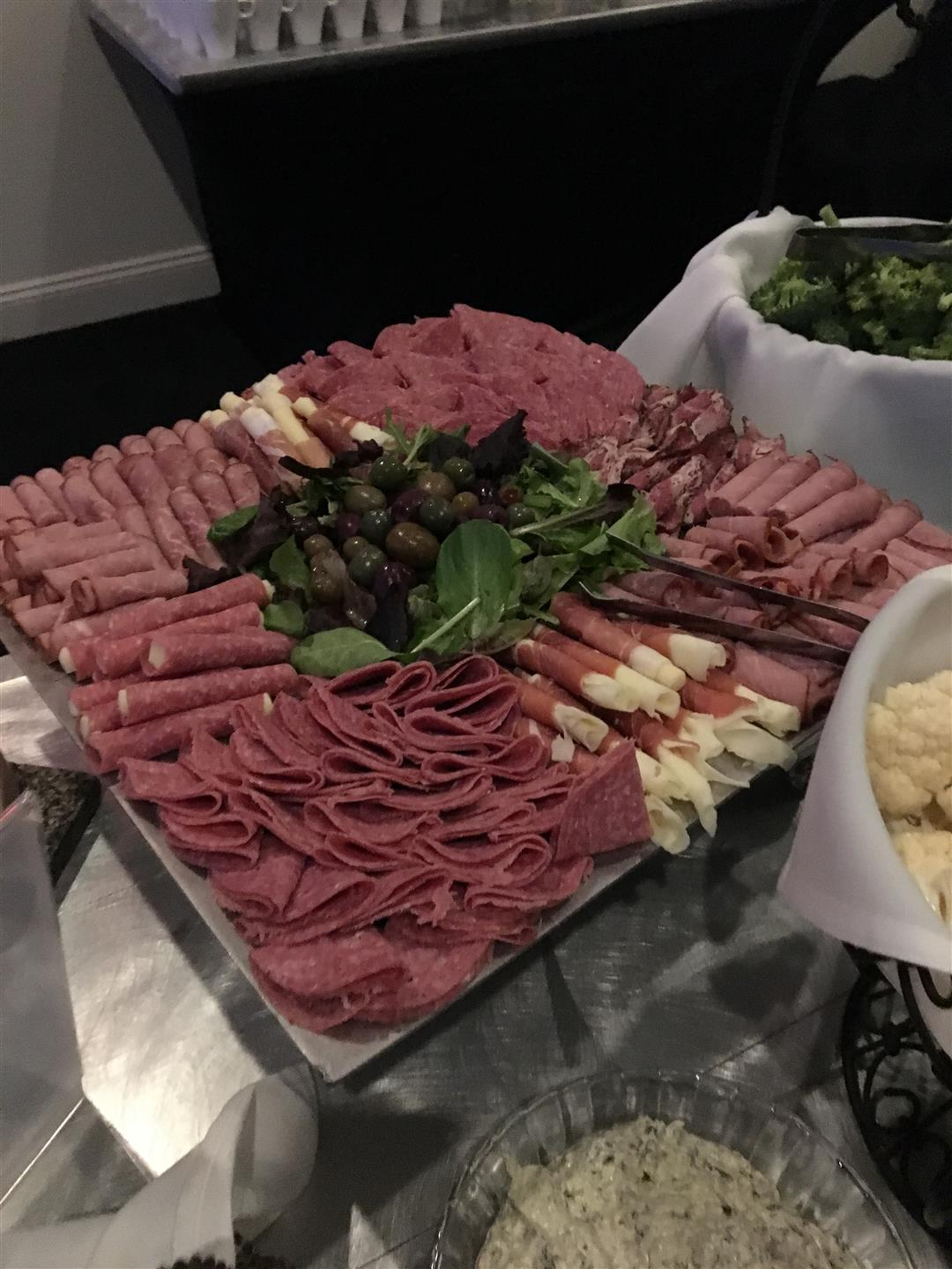 Deli meat antipasto party platter
