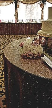 Table with floral bouquet