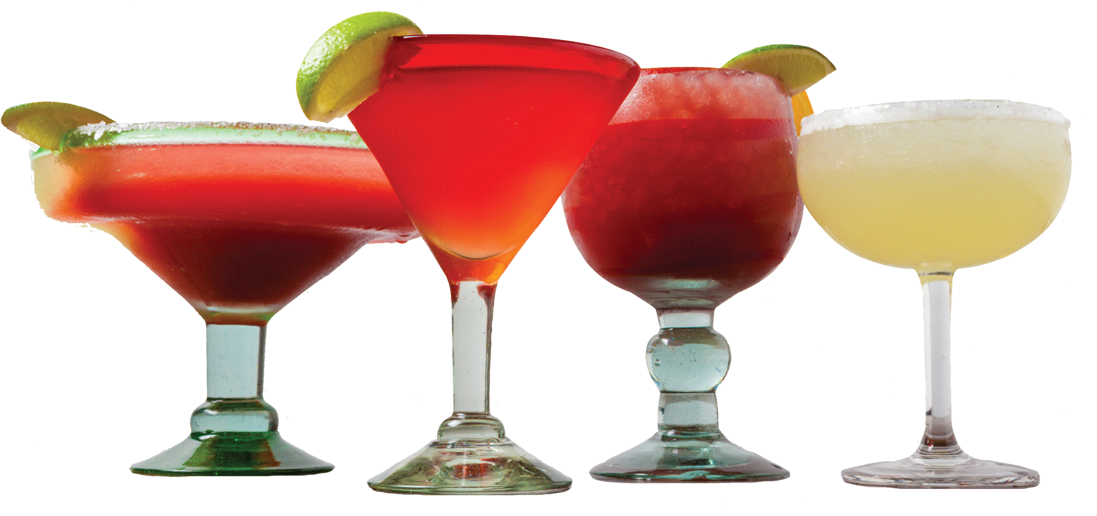 four alcoholic drinks