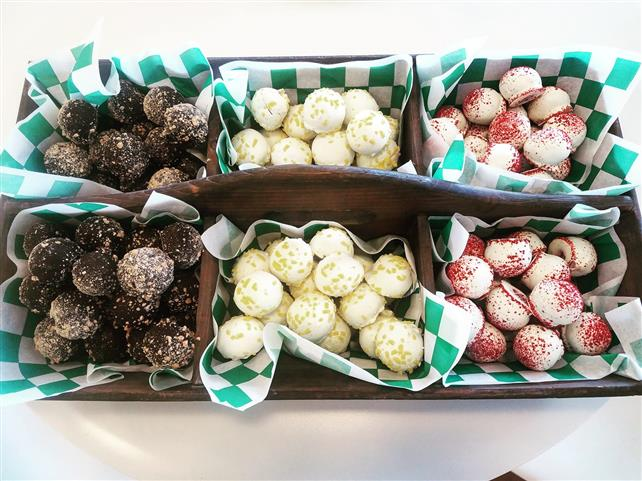 A variety of truffles.