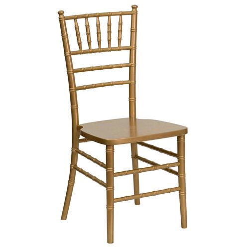 Gold Chiavari Ballroom Chair w/cushion — $7.25
