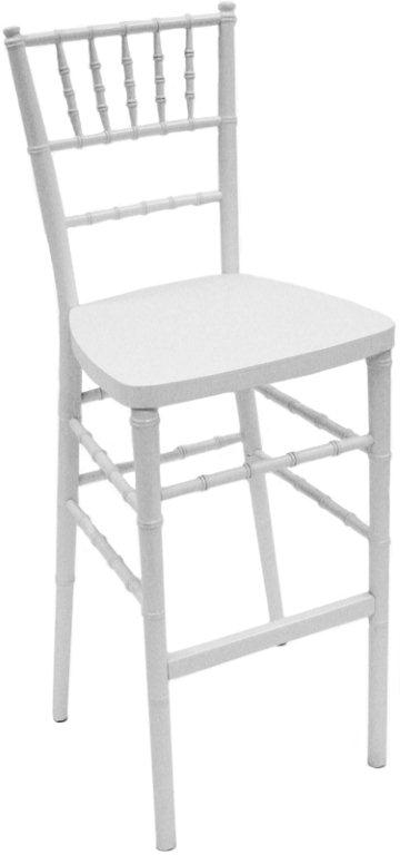 White Chiavari Bar Stool — $16