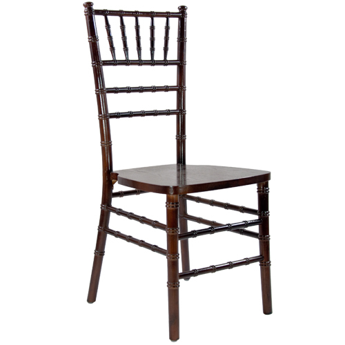 Fruitwood Chiavari Ballroom Chair w/cushion — $8
