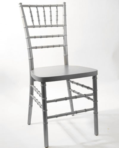 Silver Chiavari Ballroom Chair w/cushion — $7.50