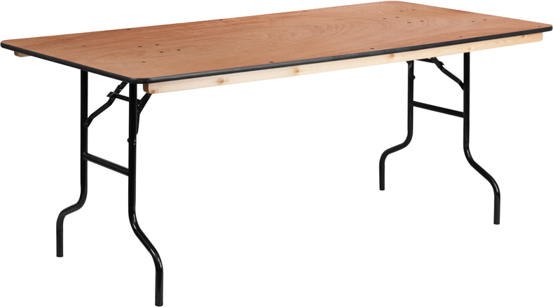 6'x 36″ Rectangular Table — $12.50