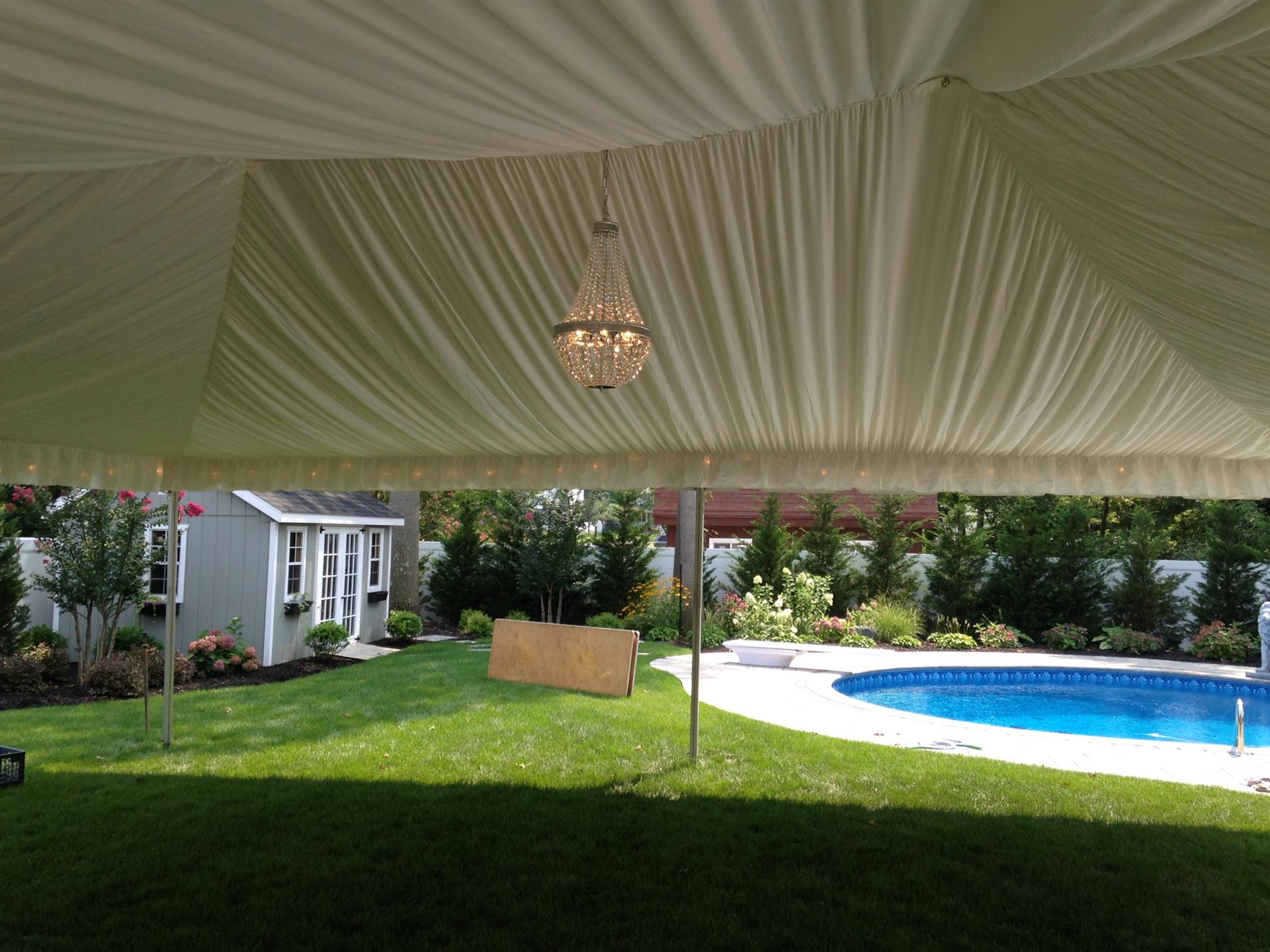 Tent Over Pool