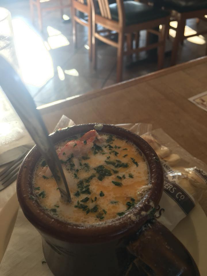 lobster soup in a mini cockpot