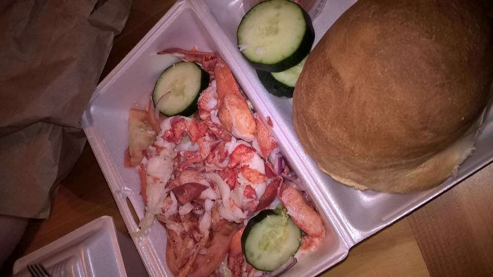 open face lobster sandwich