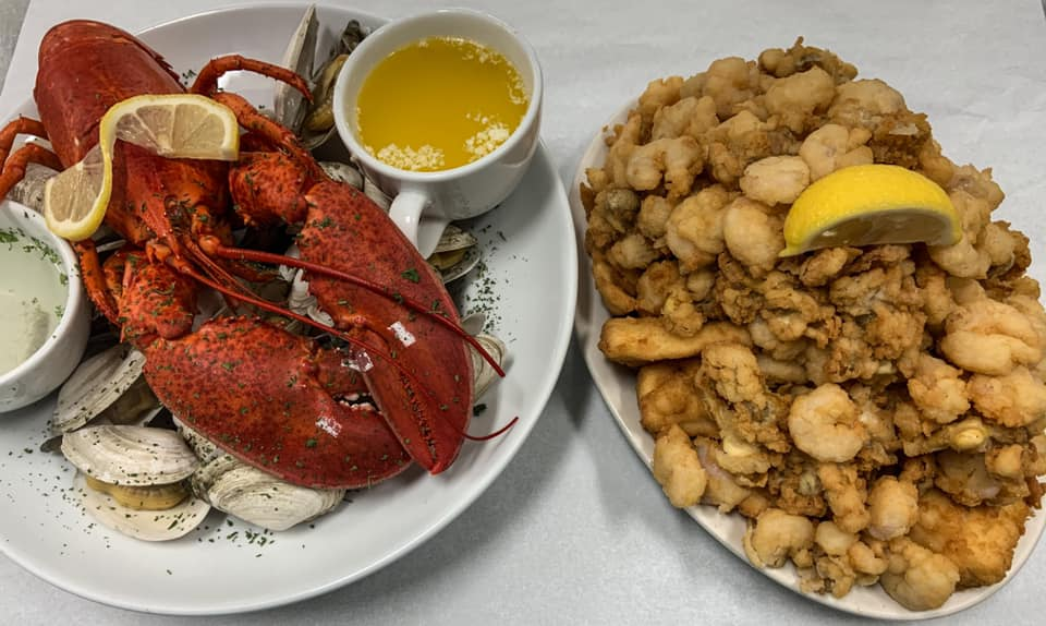 lobster and fried clam dishes