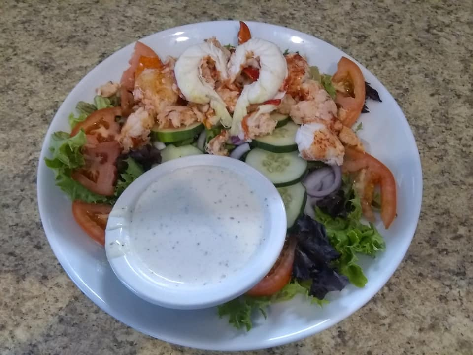 lobster salad with dressing