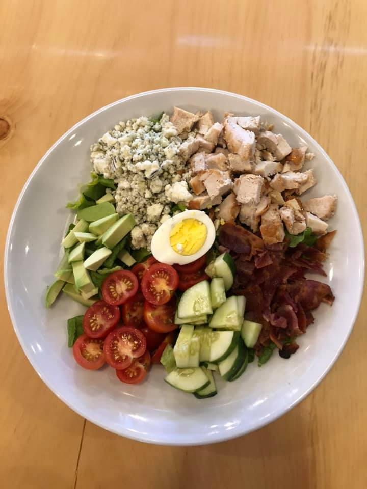 Chicken Cobb Salad with egg and avocado