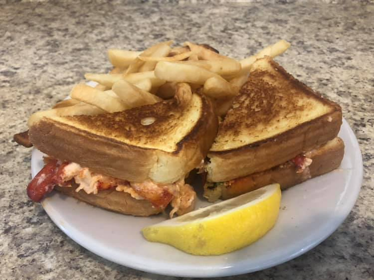Lobster Melt with Fries