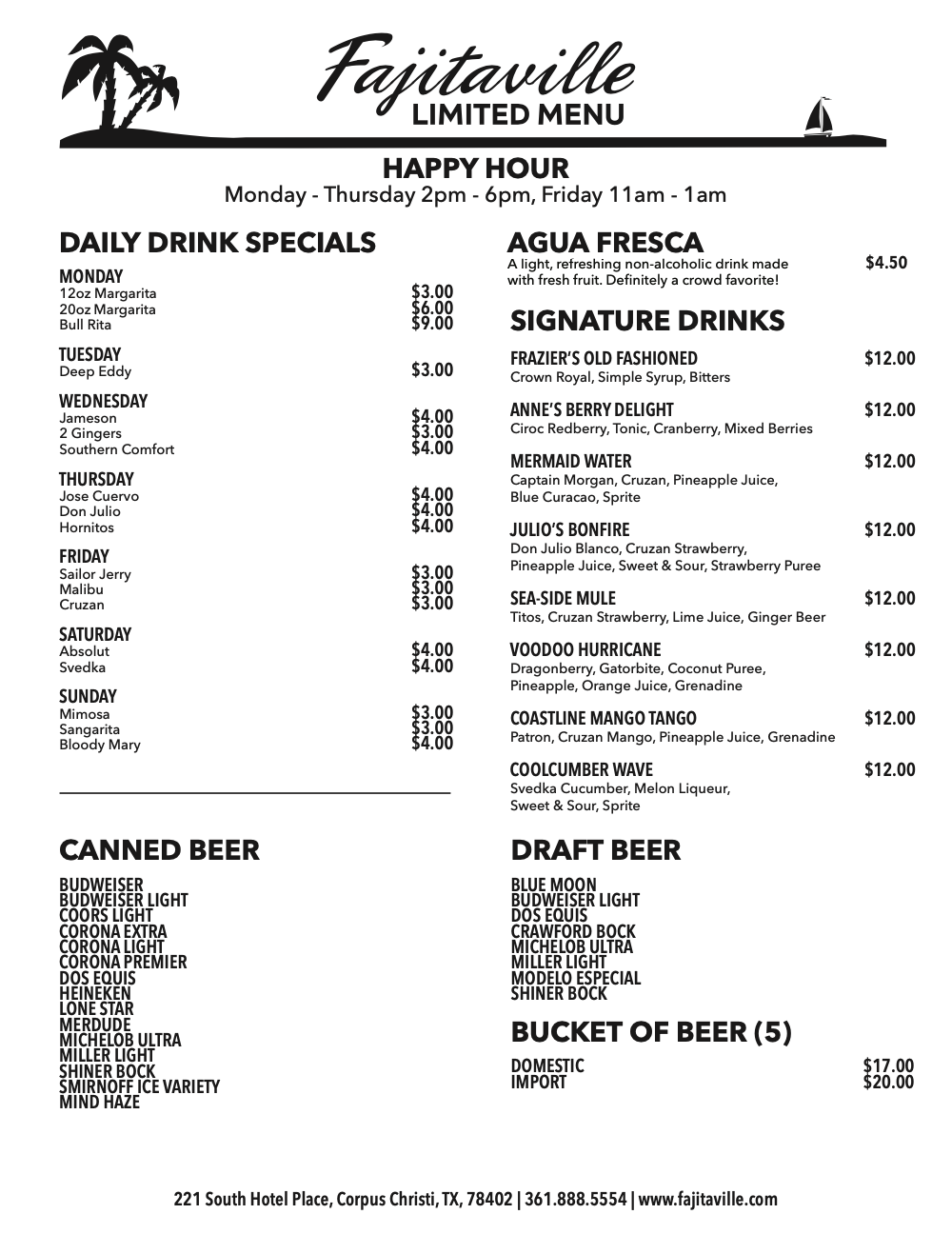 limited menu page 2. click on the button above for a readable pdf.