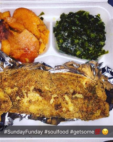 Whole chicken with sweet potatoes and greens as sides
