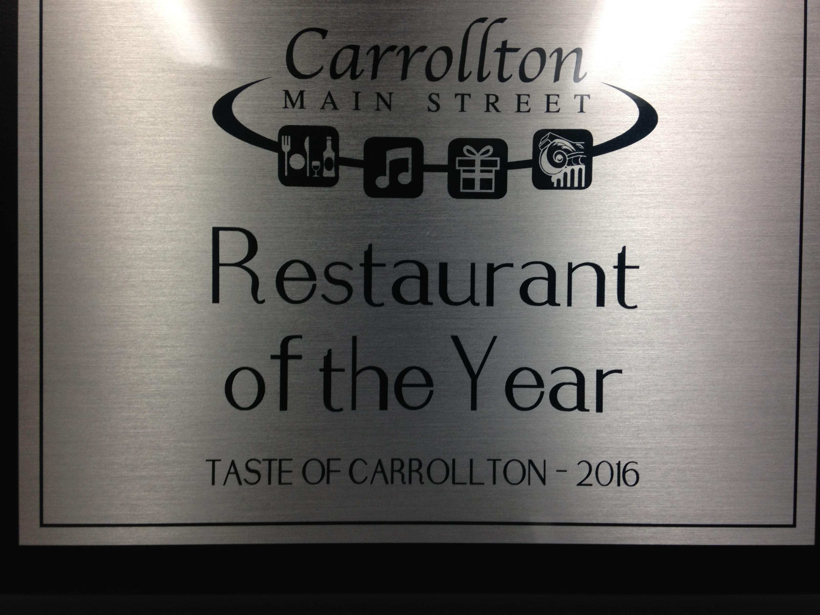 carrollton main street restaurant of the year taste of carrollton 2016
