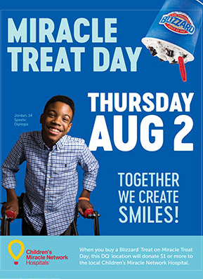 miracle treat day thursday aug 2 together we create smiles!