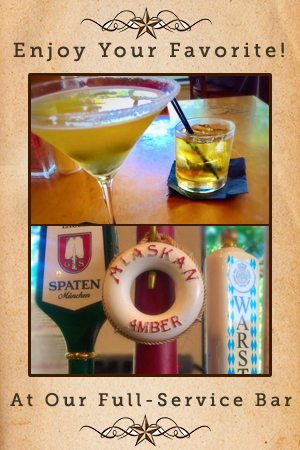 enjoy your favorite drink at our full service bar