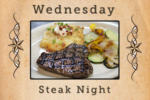 Wednesday. Steak night.