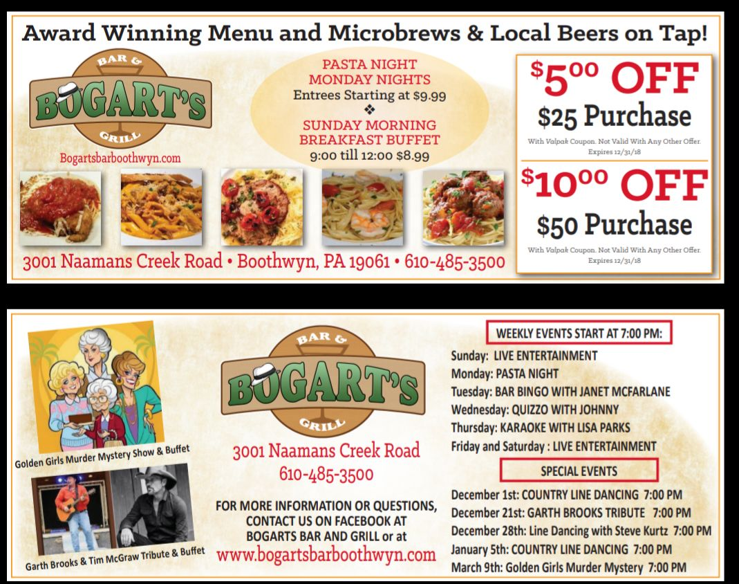 Bogart\'s Bar and Grill - Events