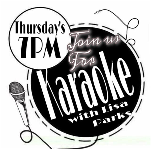 karaoke night every thursday at 7pm with lisa parks