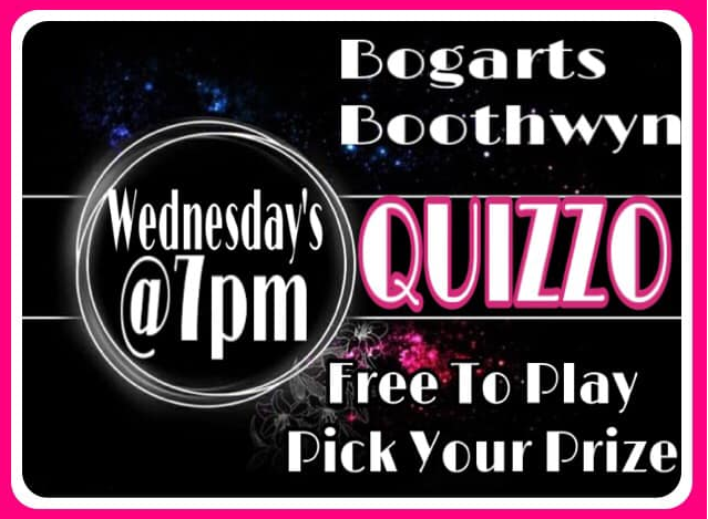 Bogarts Boothwyn QUIZZO - Every Wednesday | Free to Play : 7pm
