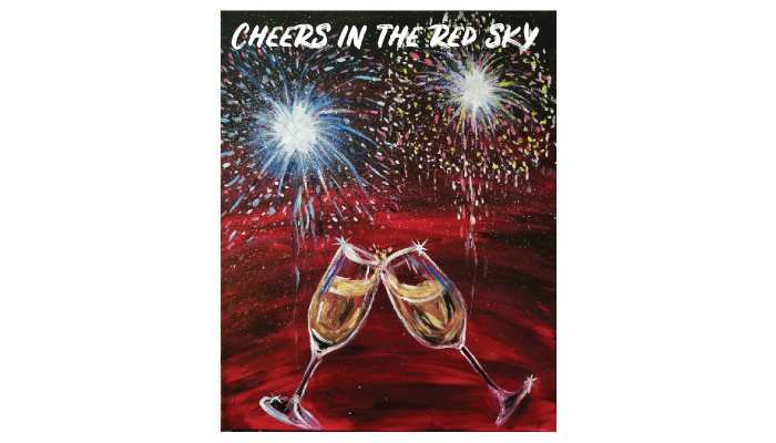 Cheers in the red sky painting
