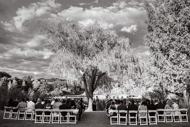 Black & White Image of a Ceremony