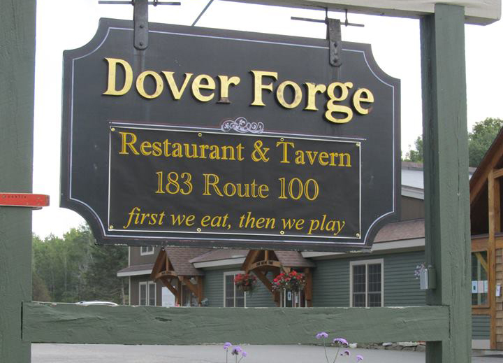 Dover Forge Sign on a post