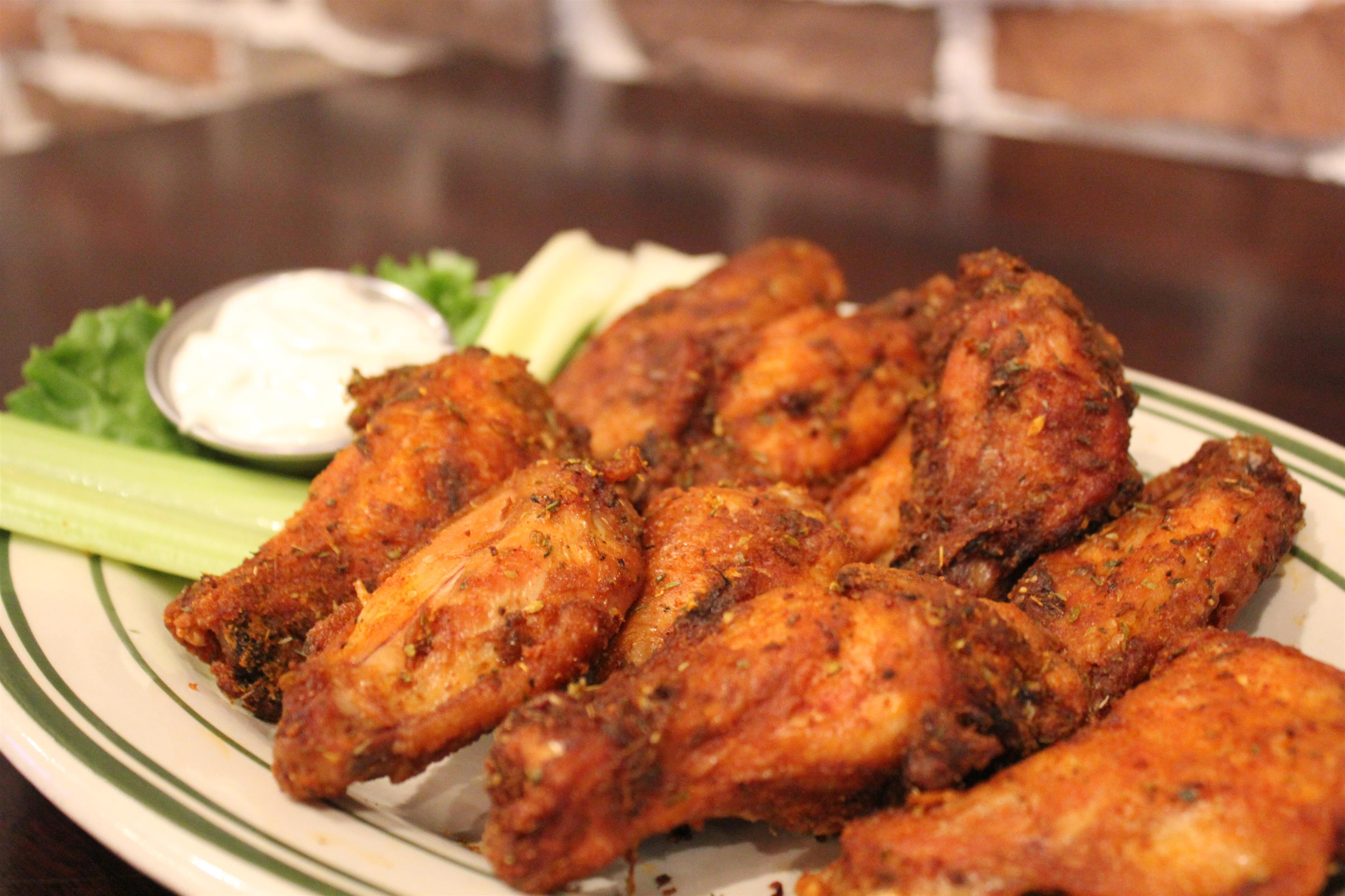 Ten fresh jumbo wings with ranch and celery