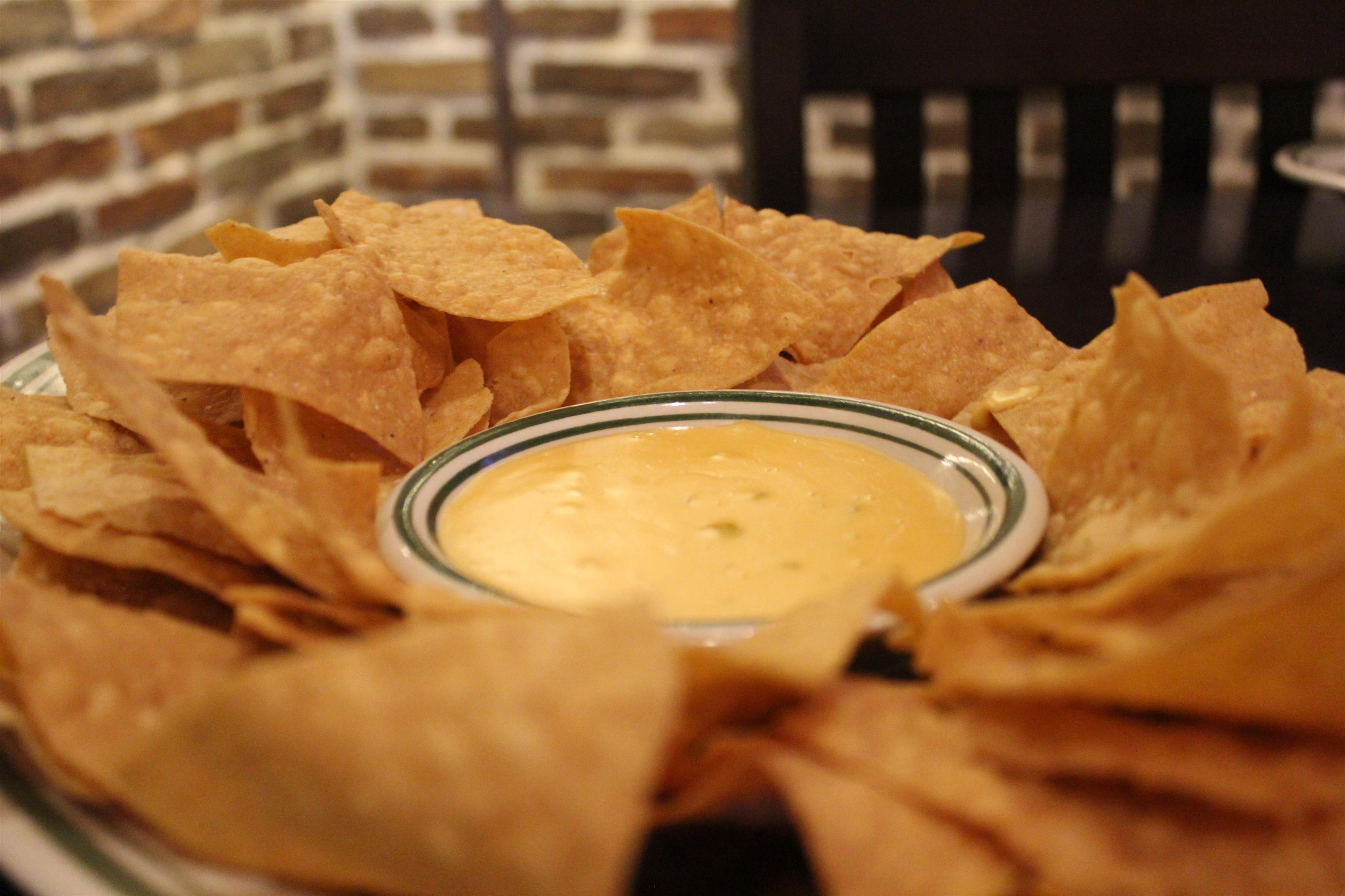 kettle chips and queso