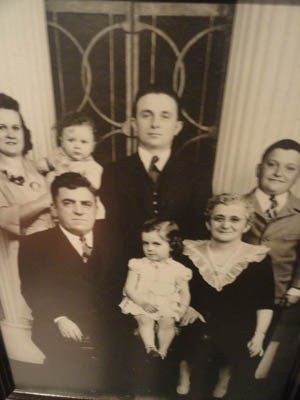 vintage photo of the castelli family