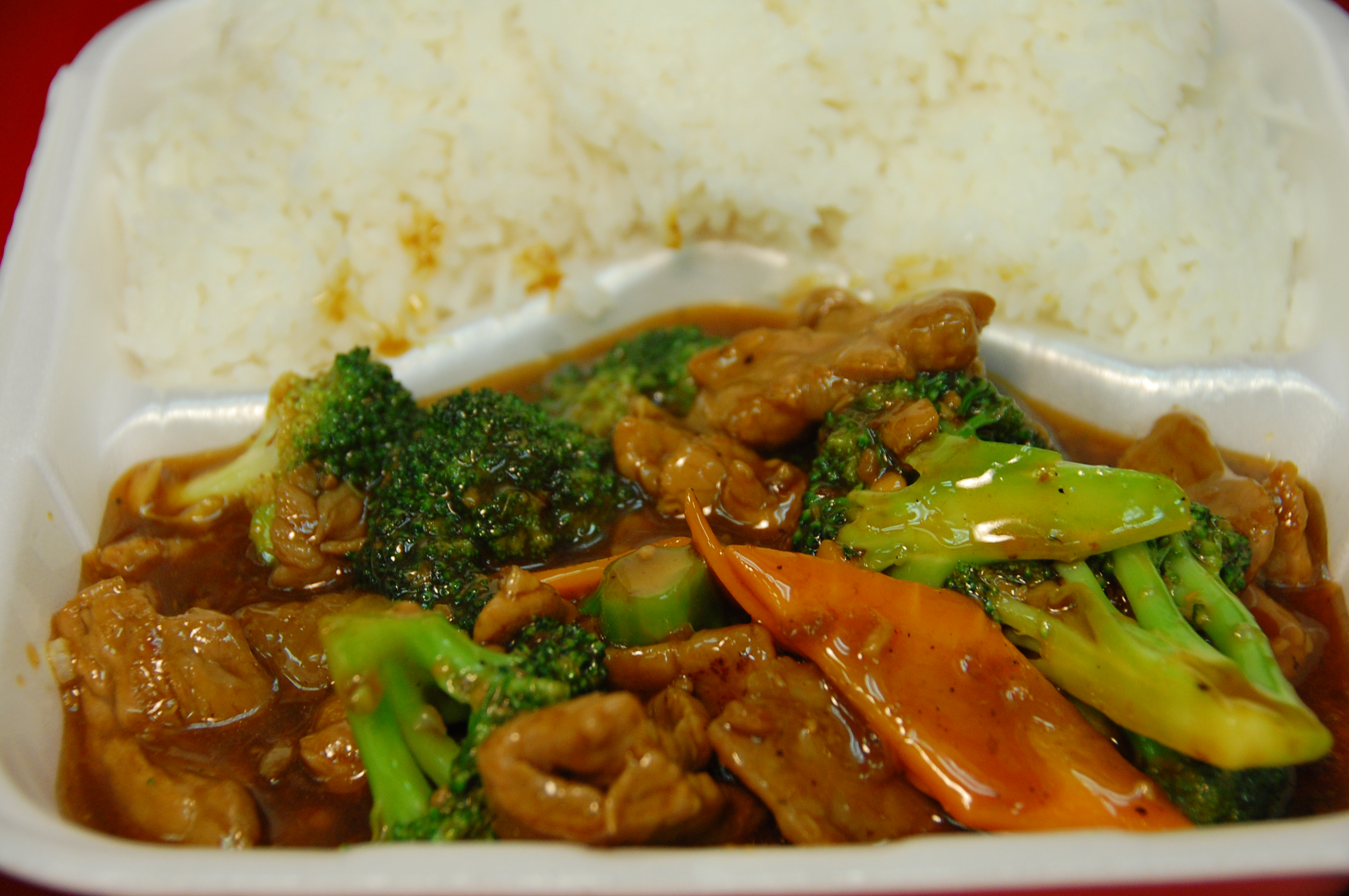 rice and beef with broccoli