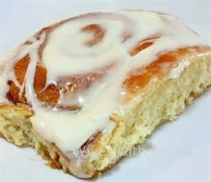 cinnamon bun with icing on top