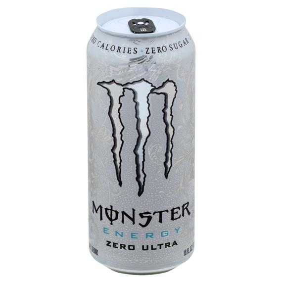 monster energy white can