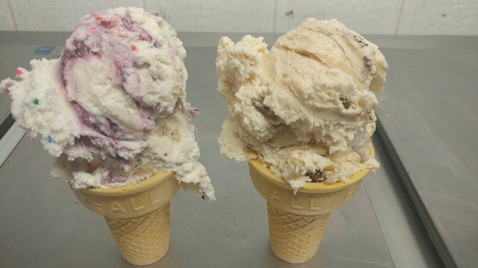 Tow ice cream cones