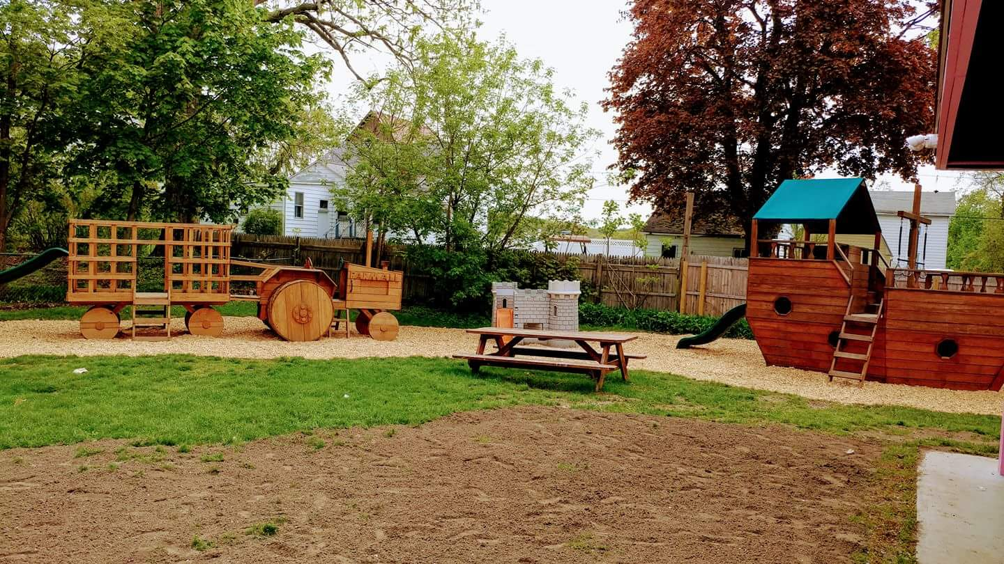 An outdoor kinder playground