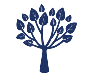 Blue tree with leaves