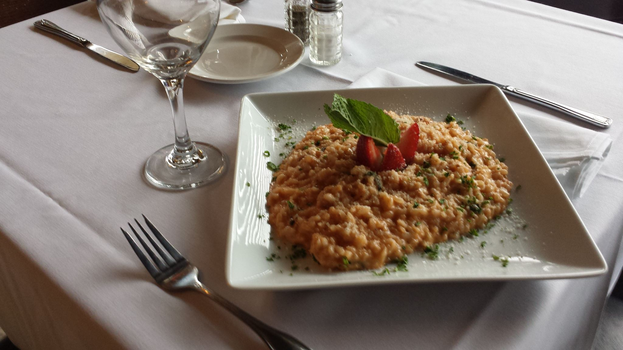 Risotto on dish