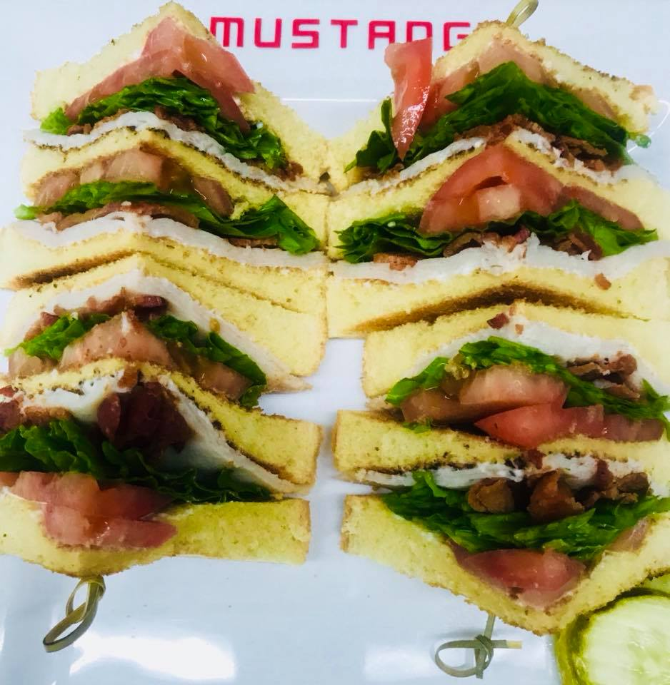 BLT cut into fours