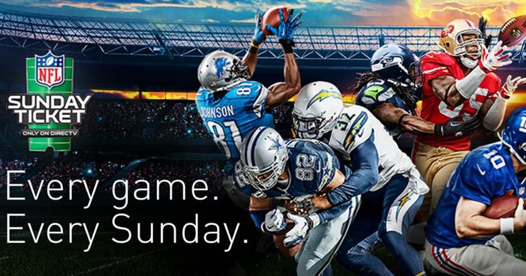 NFL Sunday ticket, every game. every sunday