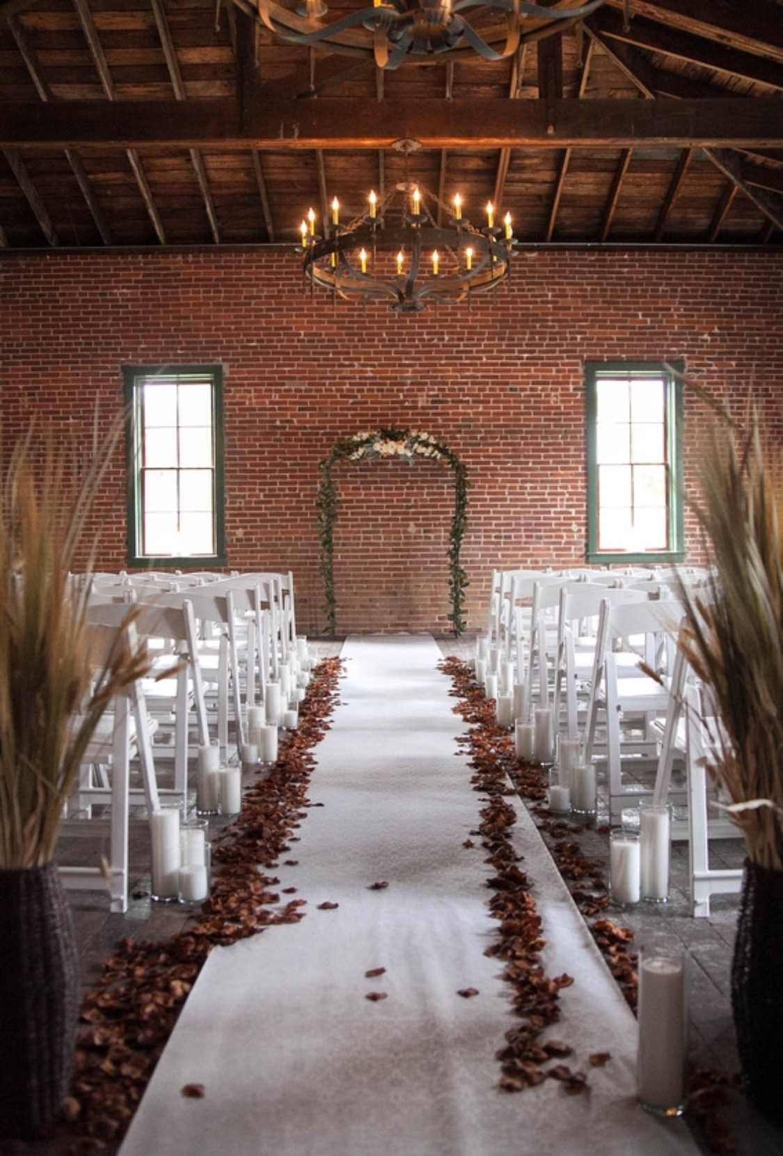 the aisle at a wedding