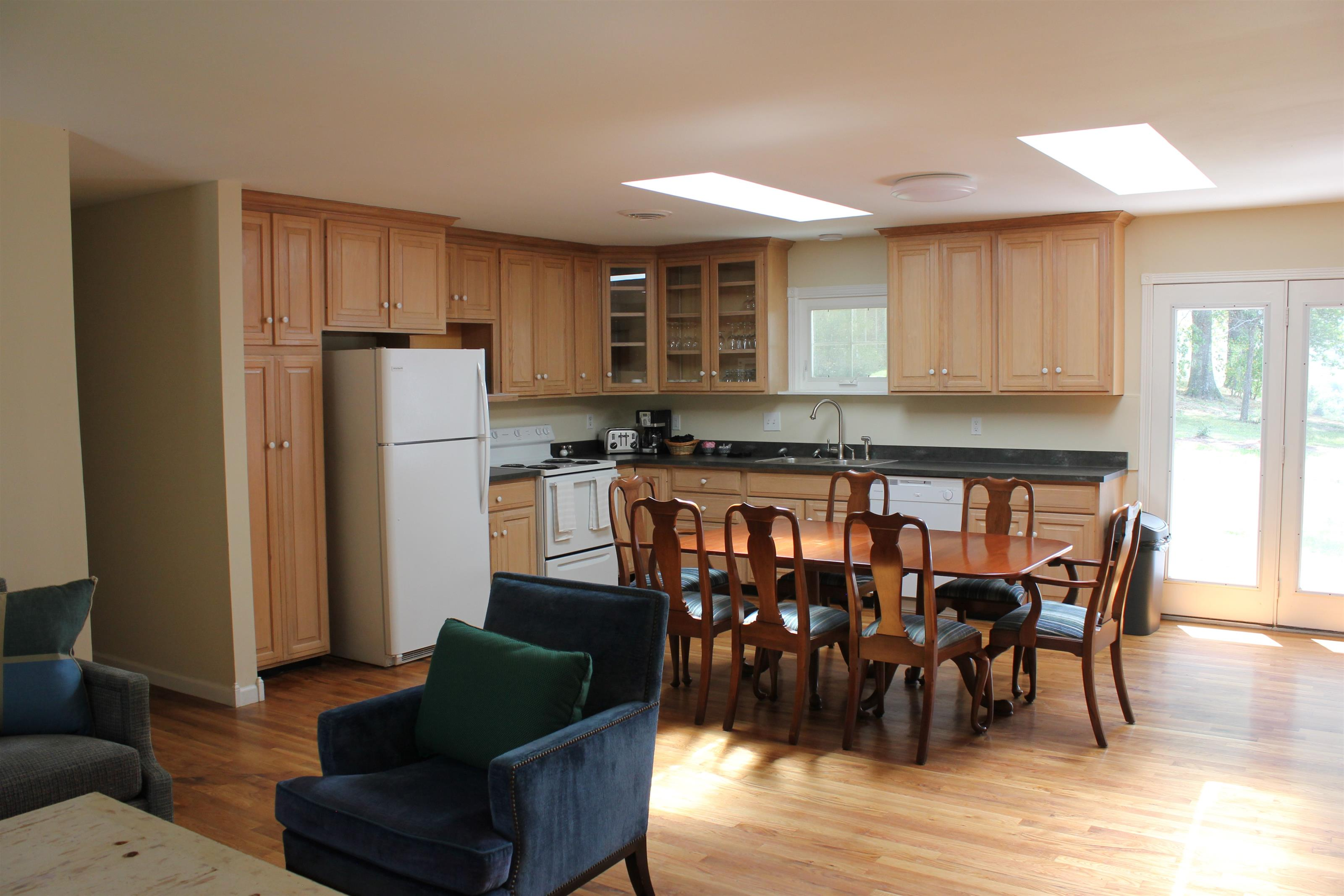 kitchen with kitchen table and chairs