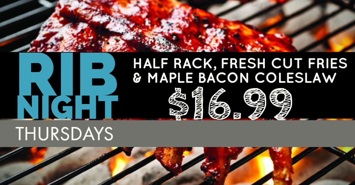 rib night thursdays $16.99