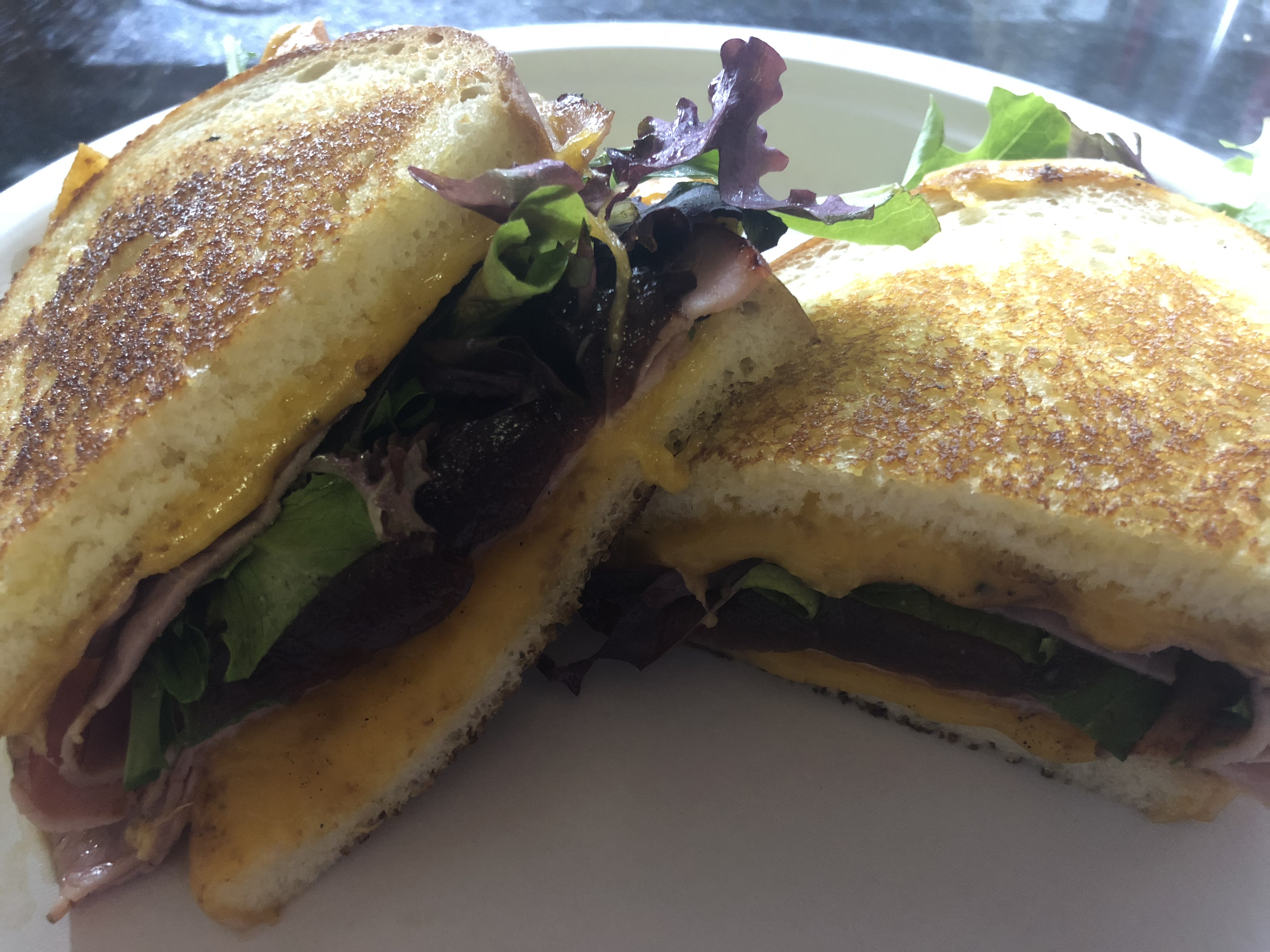 grilled ham and cheddar