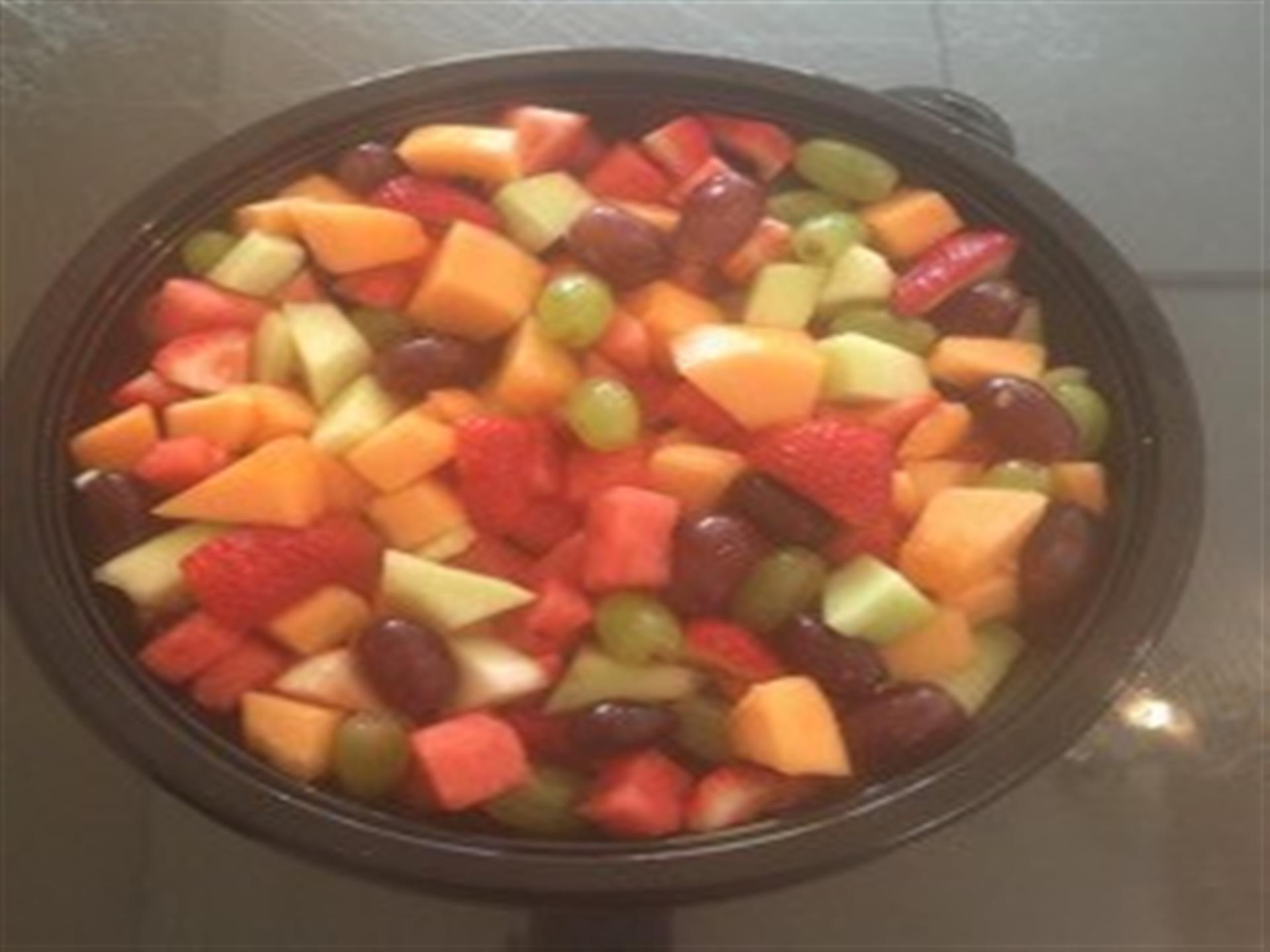 Bowl on fruit salad